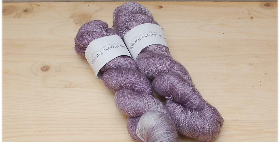 Damson - laceweight merino silk yarn