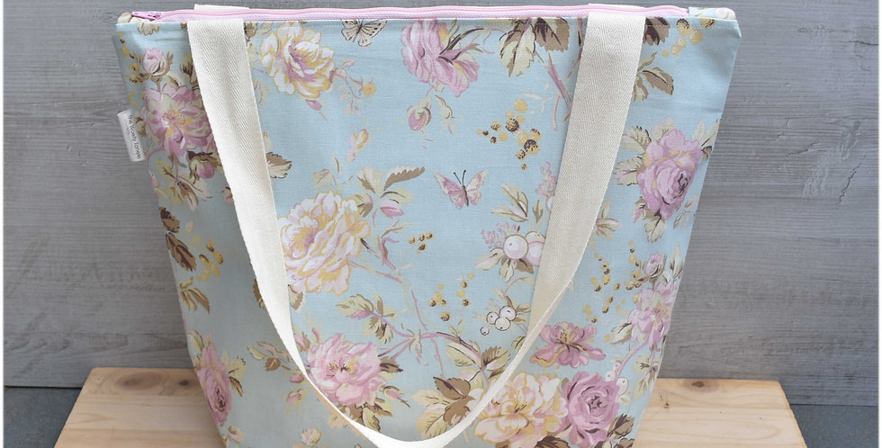 Extra large project bag - roses