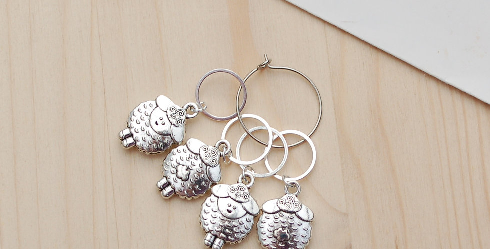 Knitting stitch markers - fat sheep