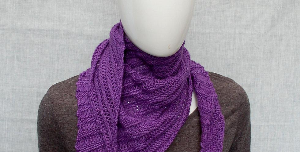 Shattered slate dk shawl