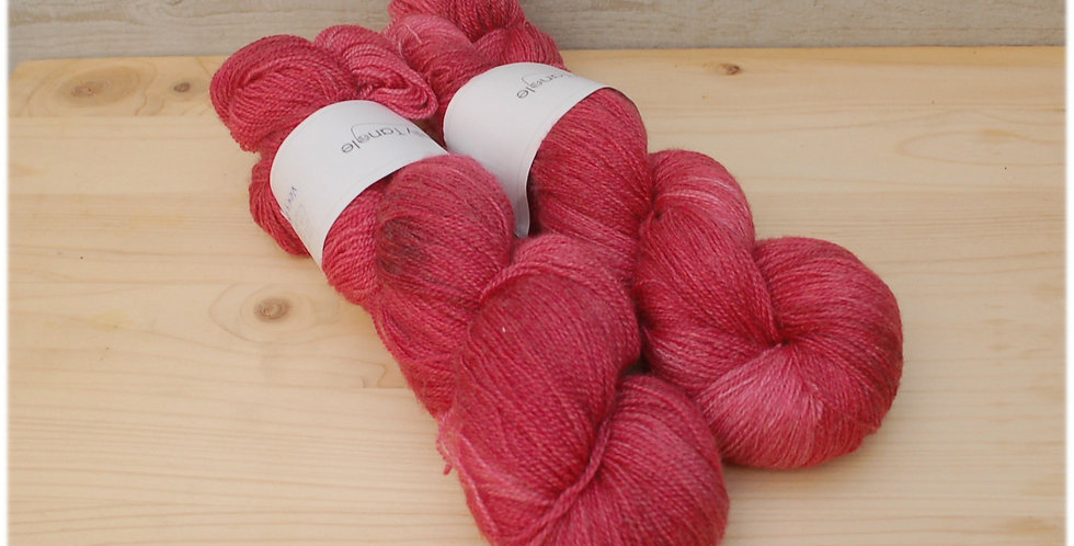 Berry - laceweight merino silk yarn
