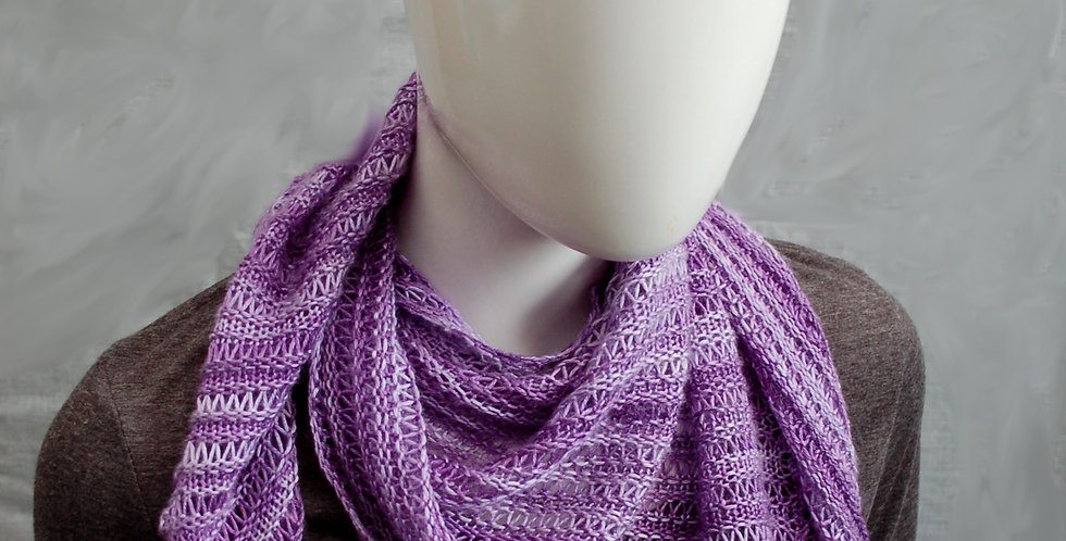 Shattered slate 4ply shawl