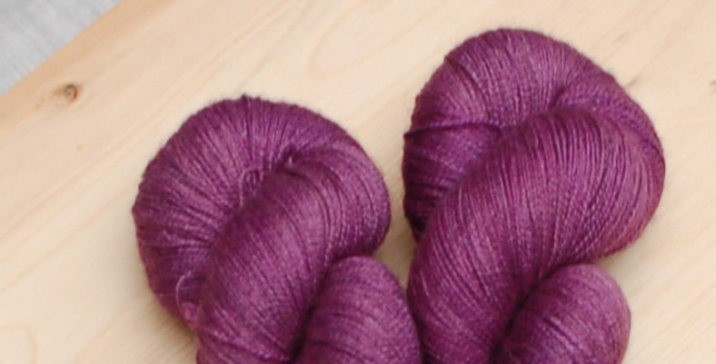 Merino silk yak 2 ply lace yarn - clearance