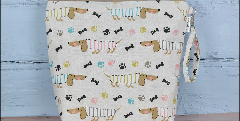 Large project bag - sausage dogs