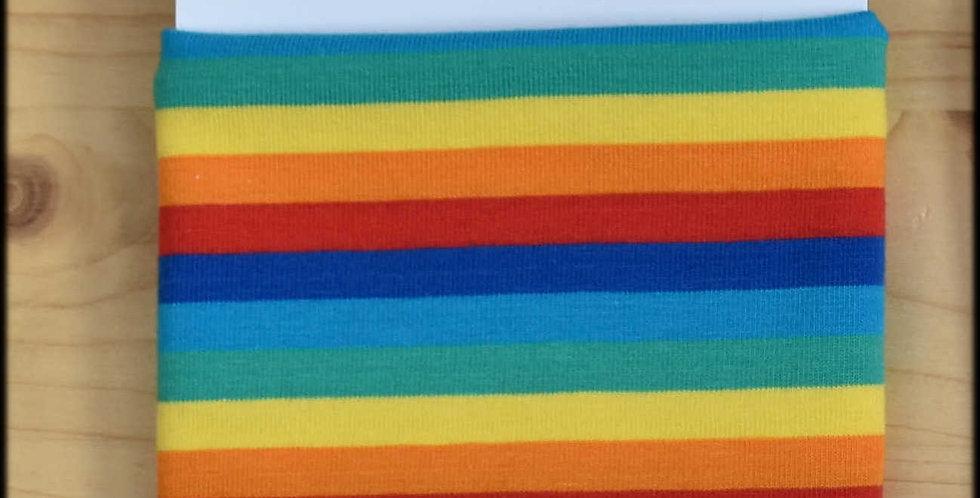 Yarn cosy - rainbow stripes