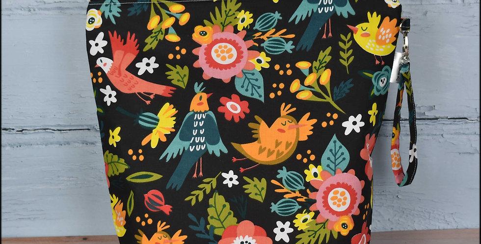 Large project bag - folk floral print