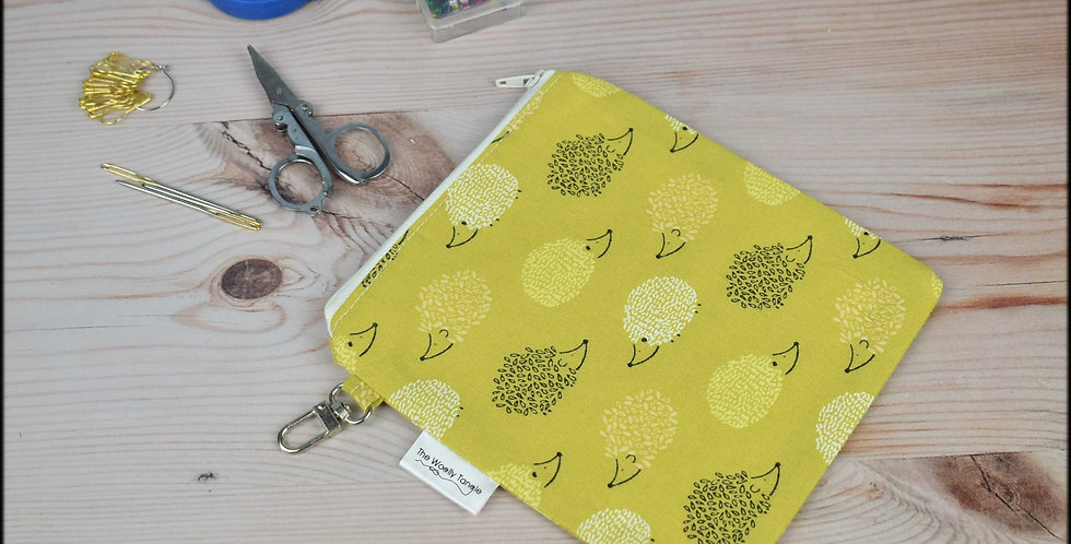 Notions pouch - hedgehogs