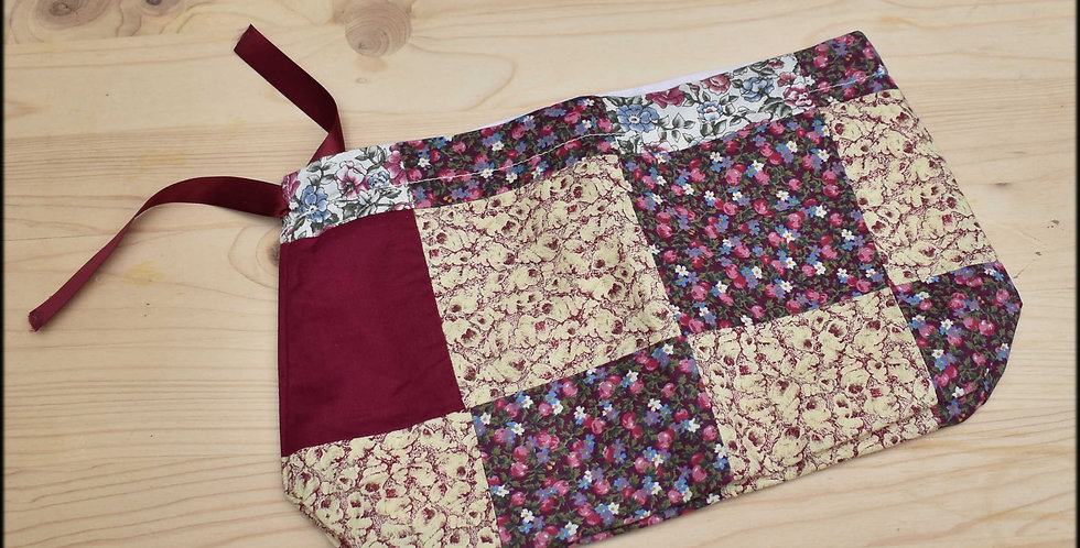 Clearance small drawstring project bag - patchwork