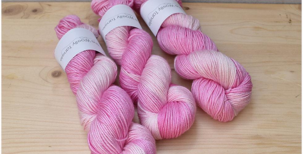Pinks semi - DK merino silk yarn
