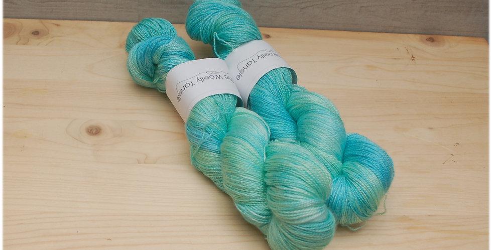Y Mor - laceweight merino silk yarn