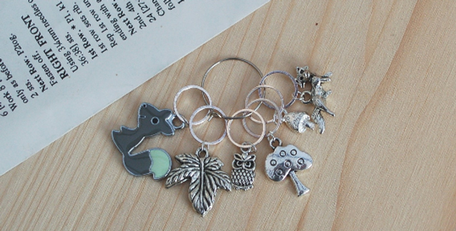 Knitting stitch markers - forest friends