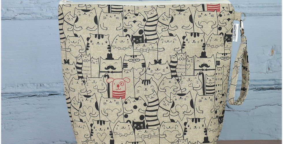 Large project bag - cats and dogs