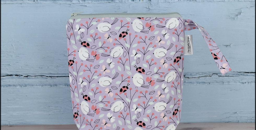Sock project bag - ladybirds