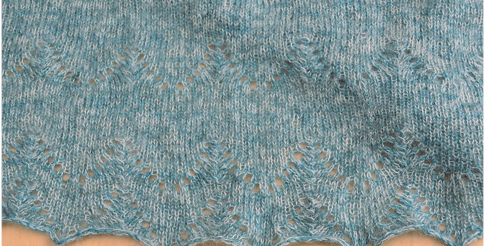 Mountain Pass shawl kit in 4 ply - merino yak silk & mohair blend