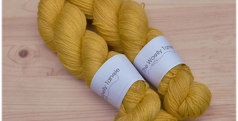 Mustardy - 4ply merino bamboo yarn