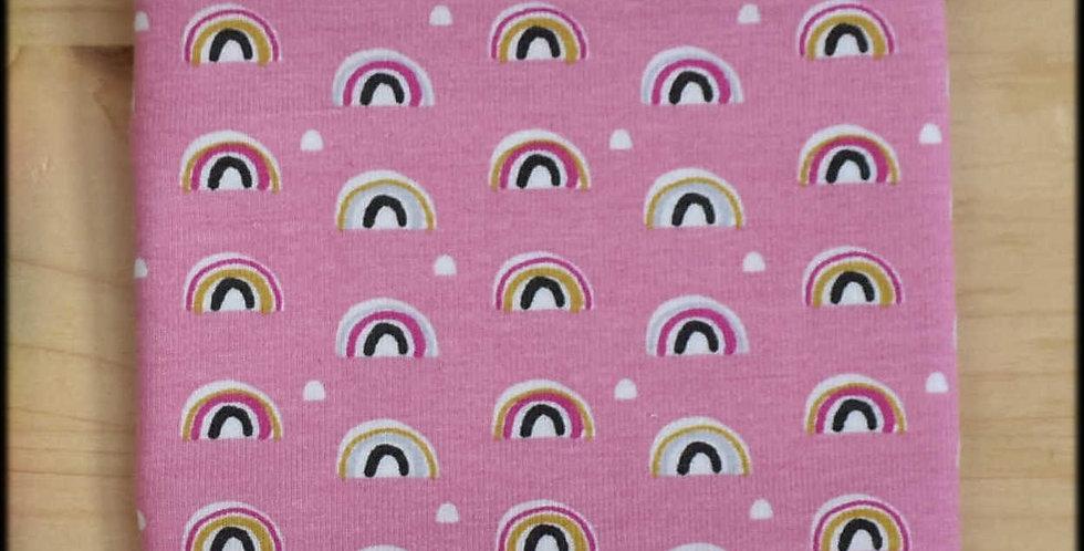 Yarn cosy - pink rainbows