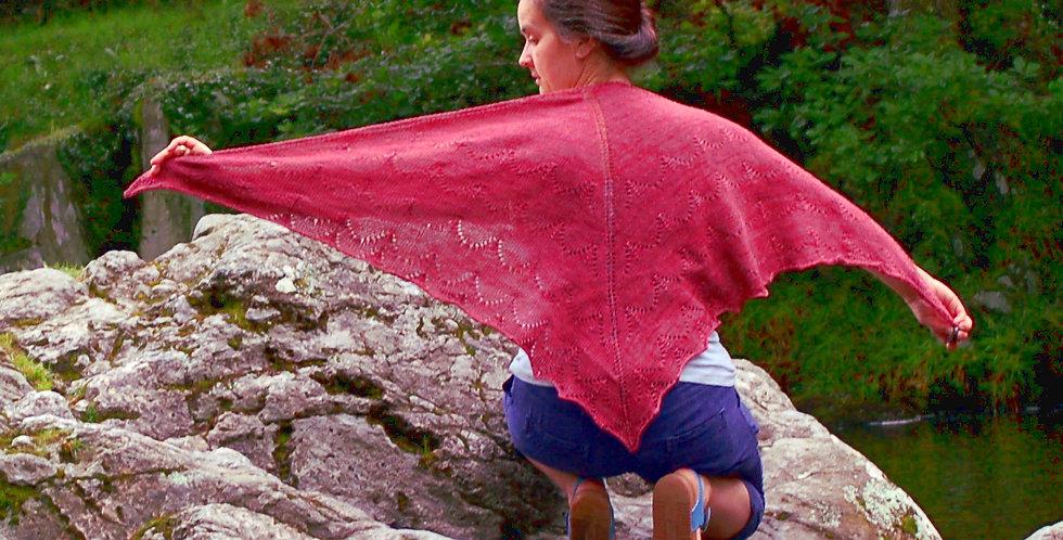 Mountain pass shawl pattern