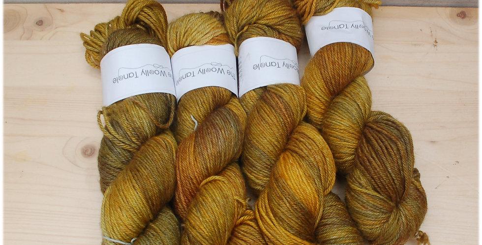Mustardy mix up - DK merino bamboo yarn