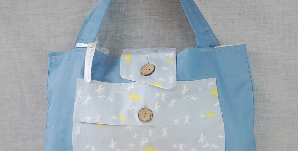 Clearance large project bag - dragonflies