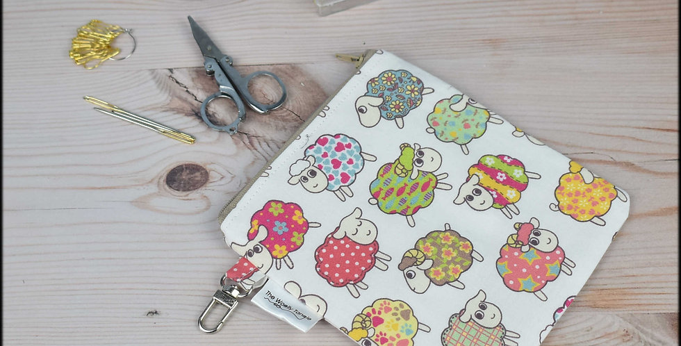 Notions pouch - colourful sheep