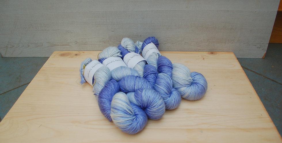 Cornflower semi - DK merino silk yarn