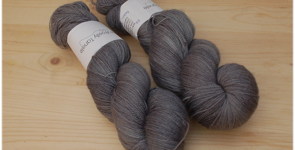 Grey skies - laceweight merino bamboo yarn