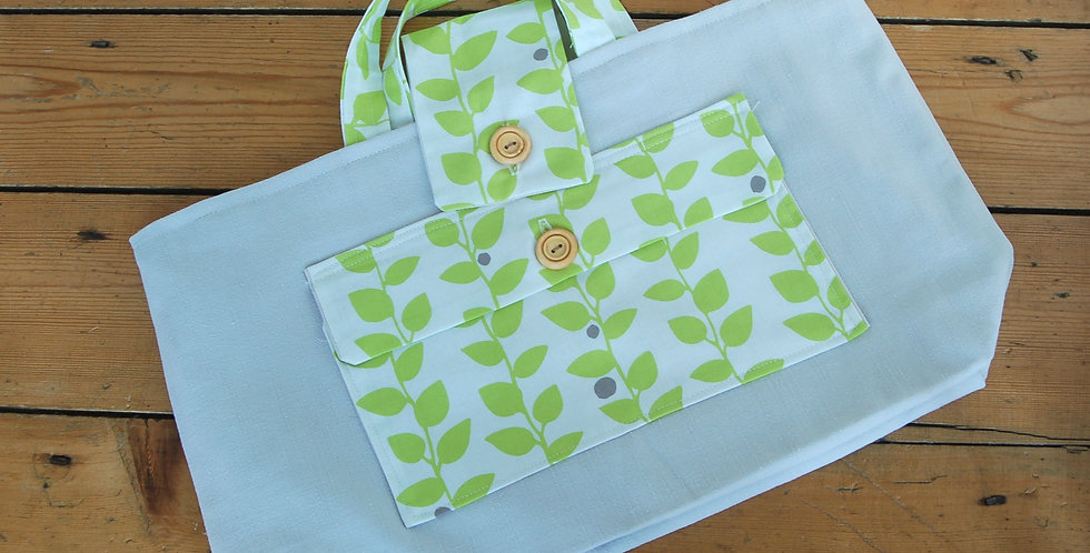 Clearance large project bag - vines
