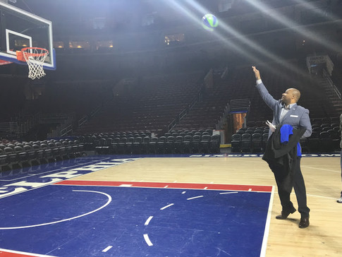 Free throw at The Wells Fargo Arena