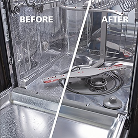 Dishwasher Before and After.  Dishwasher Repair