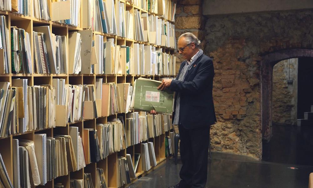Martin Robain et les plans de construction de l'IMA