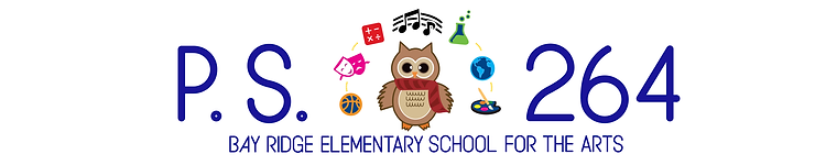 PS 264 logo with Owl