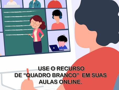 """Use o recurso de """"quadro branco"""" em suas aulas online"""