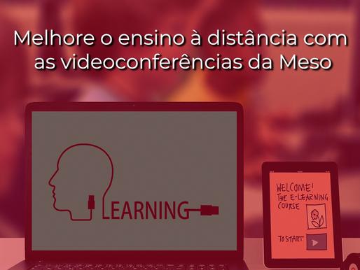 Soluções de videoconferência especiais para ensino à distância
