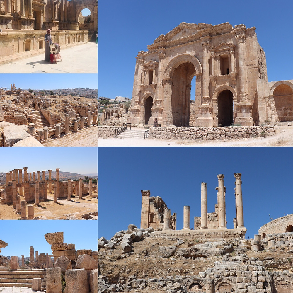 the ancient roman ruins of jerash