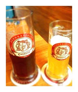 Local beer brew from Bahnhof Cues in bernkastel-kues