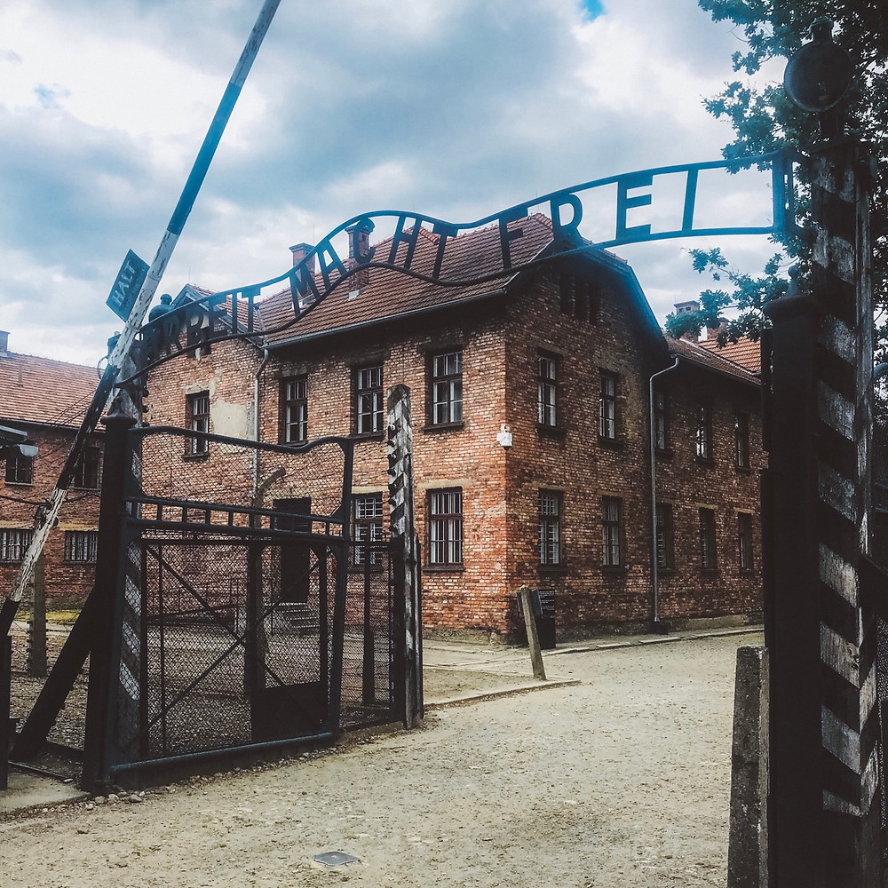 "Auschwitz I the gate reads ""Arbeit Macht Frei"" translated means ""Work will make you free."""