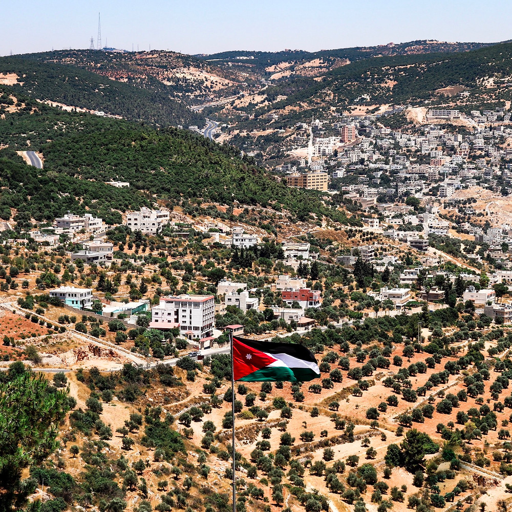 the beautiful view of the surroundings of ajloun castle