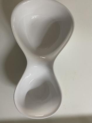 Bowl duplo louça branca 47cm