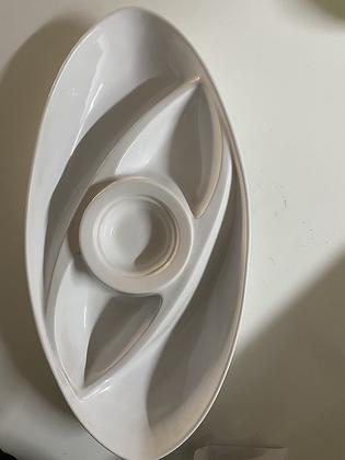Travessa oval com molheira