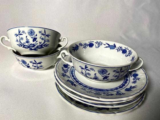 8 potes de consome porcelana Steatita Paraná