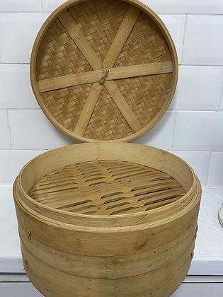 Cesto de bambu para cozinha no vapor