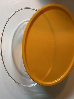 Pirex com tampa colorida (23 cm)