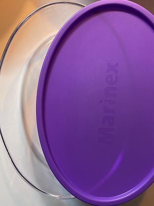 pirex (30cm)com tampa colorida
