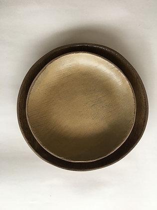 Kit 2 pratos cerâmica 32,5cm e 27,5cm