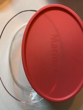 Pirex (30cm) com tampa colorida