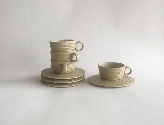 Conjunto de 4 xícaras cerâmica Balaio
