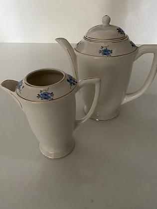Bule e leiteira porcelana Santo Eugenio