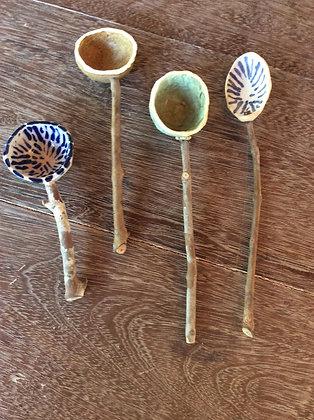 colheres de cerâmica