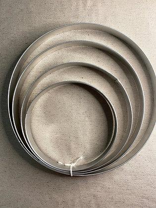 Molde: 4 aros de18 cm a 28cm