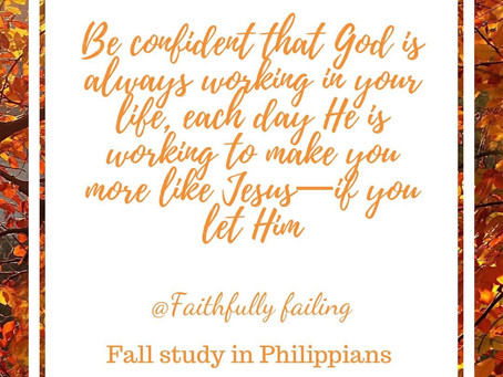 Fall study in Philippians conclusion